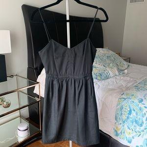 J Crew Factory Black Cami Dress